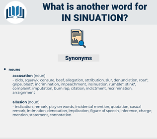 in-sinuation, synonym in-sinuation, another word for in-sinuation, words like in-sinuation, thesaurus in-sinuation