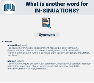 in-sinuations, synonym in-sinuations, another word for in-sinuations, words like in-sinuations, thesaurus in-sinuations