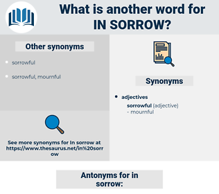 in sorrow, synonym in sorrow, another word for in sorrow, words like in sorrow, thesaurus in sorrow