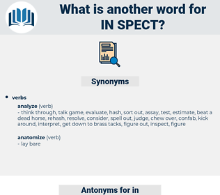in-spect, synonym in-spect, another word for in-spect, words like in-spect, thesaurus in-spect