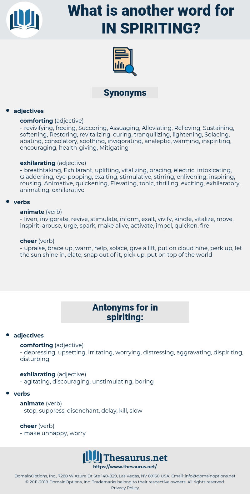 in-spiriting, synonym in-spiriting, another word for in-spiriting, words like in-spiriting, thesaurus in-spiriting