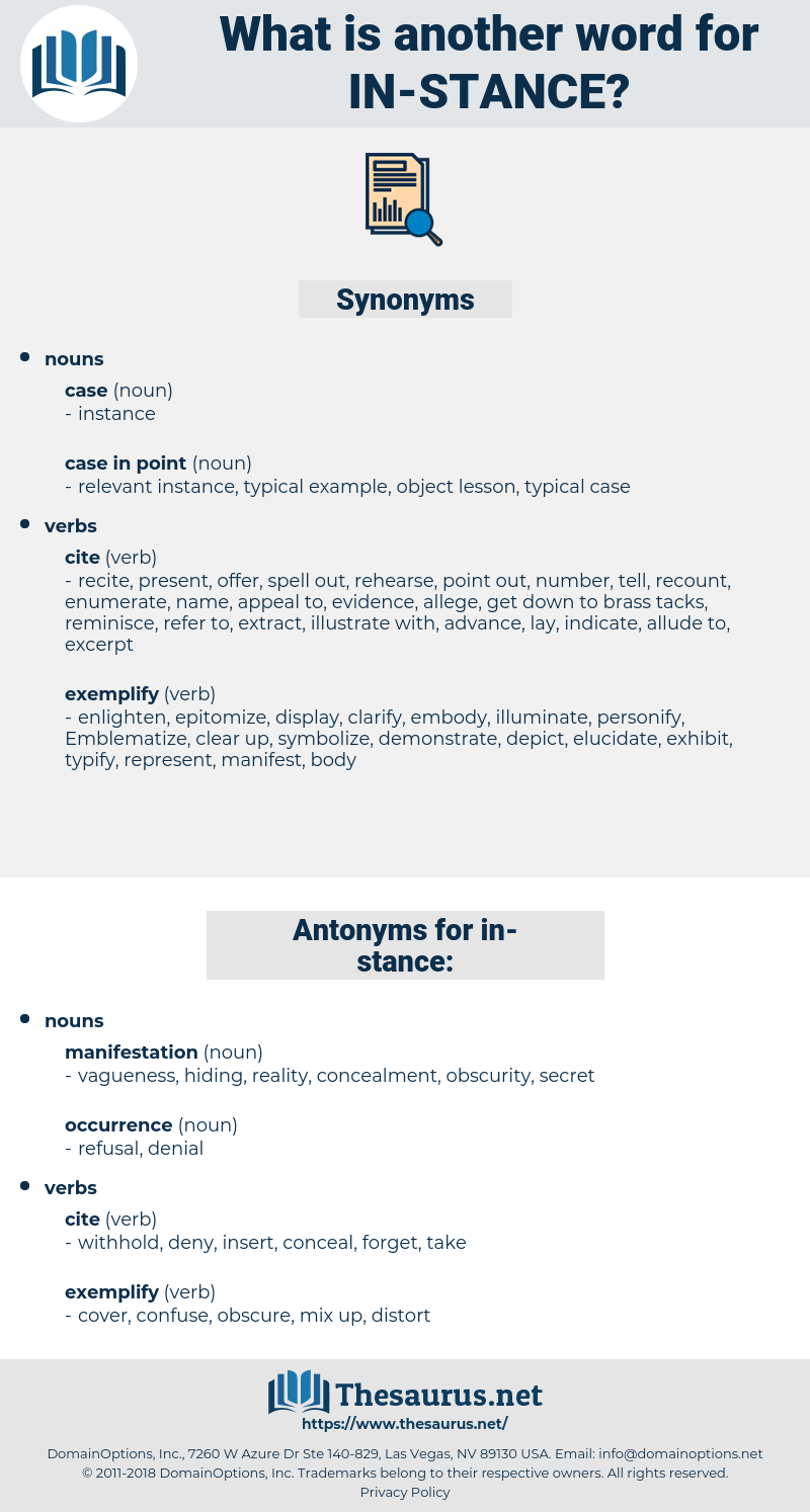in-stance, synonym in-stance, another word for in-stance, words like in-stance, thesaurus in-stance