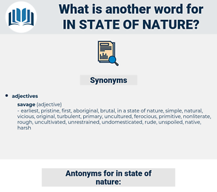 in state of nature, synonym in state of nature, another word for in state of nature, words like in state of nature, thesaurus in state of nature