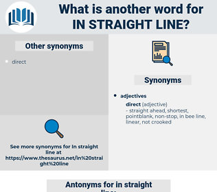 in straight line, synonym in straight line, another word for in straight line, words like in straight line, thesaurus in straight line
