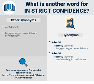 in strict confidence, synonym in strict confidence, another word for in strict confidence, words like in strict confidence, thesaurus in strict confidence