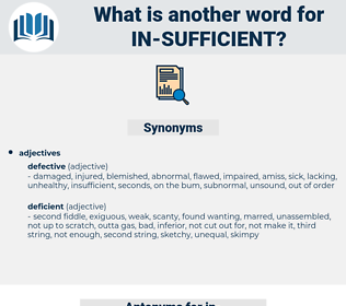 in-sufficient, synonym in-sufficient, another word for in-sufficient, words like in-sufficient, thesaurus in-sufficient