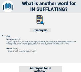 in sufflating, synonym in sufflating, another word for in sufflating, words like in sufflating, thesaurus in sufflating