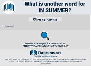 in summer, synonym in summer, another word for in summer, words like in summer, thesaurus in summer