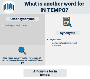 in tempo, synonym in tempo, another word for in tempo, words like in tempo, thesaurus in tempo