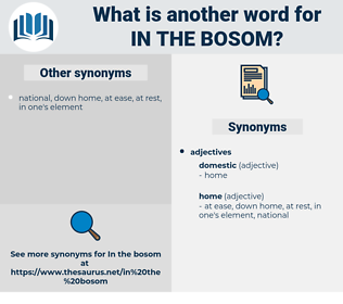 in the bosom, synonym in the bosom, another word for in the bosom, words like in the bosom, thesaurus in the bosom