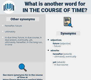 in the course of time, synonym in the course of time, another word for in the course of time, words like in the course of time, thesaurus in the course of time