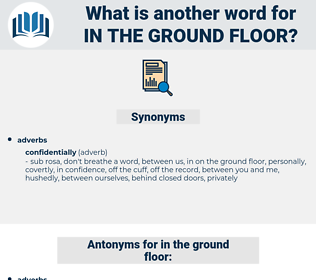 in the ground floor, synonym in the ground floor, another word for in the ground floor, words like in the ground floor, thesaurus in the ground floor