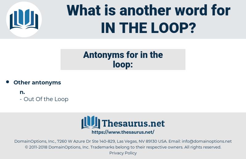 in the loop, synonym in the loop, another word for in the loop, words like in the loop, thesaurus in the loop