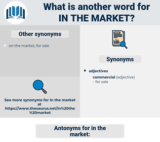 in the market, synonym in the market, another word for in the market, words like in the market, thesaurus in the market