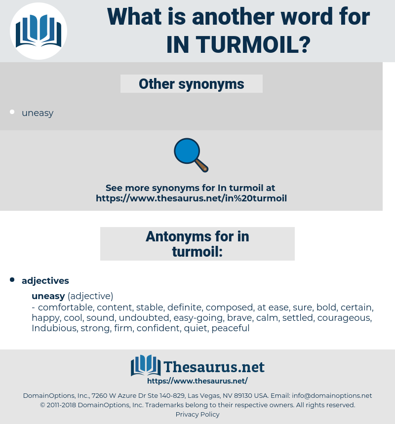 in turmoil, synonym in turmoil, another word for in turmoil, words like in turmoil, thesaurus in turmoil