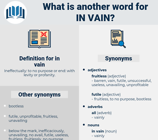in vain, synonym in vain, another word for in vain, words like in vain, thesaurus in vain