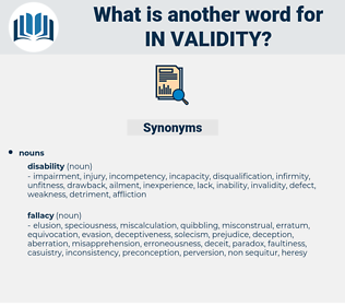 in validity, synonym in validity, another word for in validity, words like in validity, thesaurus in validity