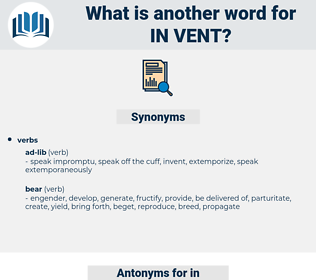 in vent, synonym in vent, another word for in vent, words like in vent, thesaurus in vent