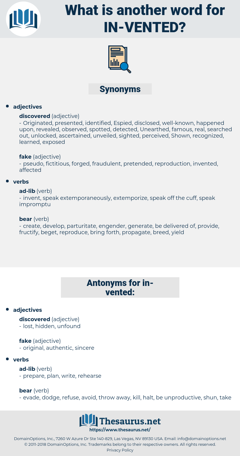 in-vented, synonym in-vented, another word for in-vented, words like in-vented, thesaurus in-vented