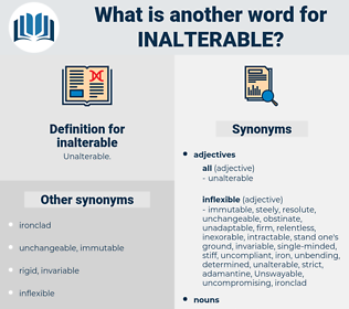 inalterable, synonym inalterable, another word for inalterable, words like inalterable, thesaurus inalterable