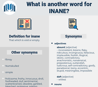 inane, synonym inane, another word for inane, words like inane, thesaurus inane