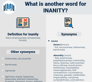 inanity, synonym inanity, another word for inanity, words like inanity, thesaurus inanity