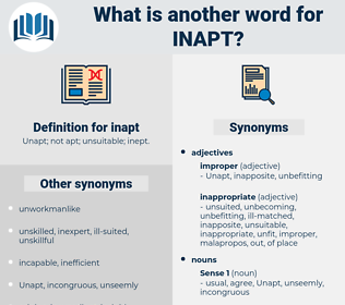 inapt, synonym inapt, another word for inapt, words like inapt, thesaurus inapt