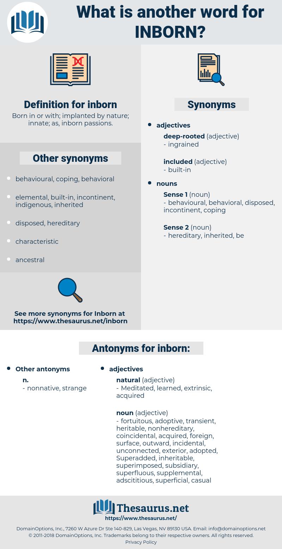 inborn, synonym inborn, another word for inborn, words like inborn, thesaurus inborn