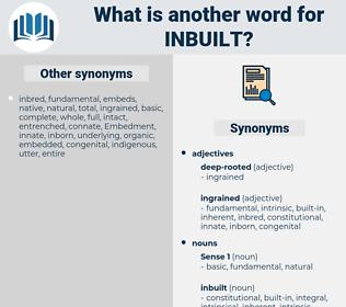 inbuilt, synonym inbuilt, another word for inbuilt, words like inbuilt, thesaurus inbuilt