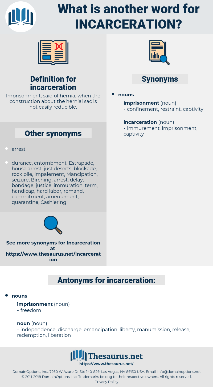 incarceration, synonym incarceration, another word for incarceration, words like incarceration, thesaurus incarceration