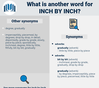 inch by inch, synonym inch by inch, another word for inch by inch, words like inch by inch, thesaurus inch by inch