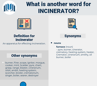 incinerator, synonym incinerator, another word for incinerator, words like incinerator, thesaurus incinerator