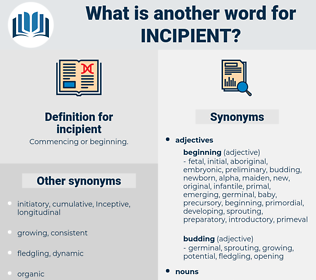incipient, synonym incipient, another word for incipient, words like incipient, thesaurus incipient