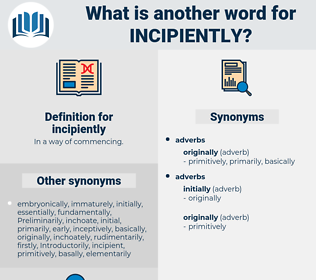 incipiently, synonym incipiently, another word for incipiently, words like incipiently, thesaurus incipiently