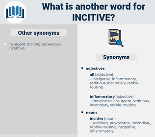 incitive, synonym incitive, another word for incitive, words like incitive, thesaurus incitive