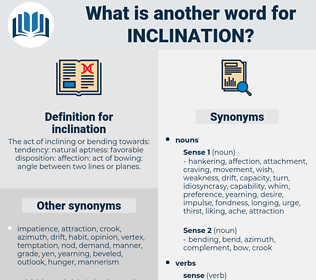 inclination, synonym inclination, another word for inclination, words like inclination, thesaurus inclination