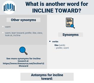 incline toward, synonym incline toward, another word for incline toward, words like incline toward, thesaurus incline toward