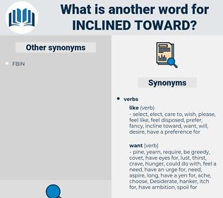 inclined toward, synonym inclined toward, another word for inclined toward, words like inclined toward, thesaurus inclined toward