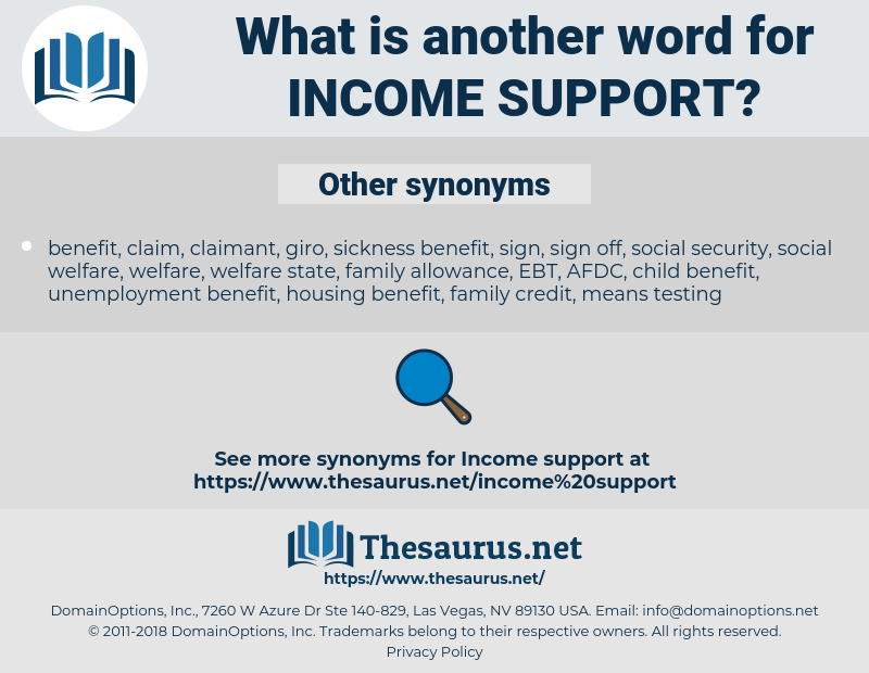 income support, synonym income support, another word for income support, words like income support, thesaurus income support