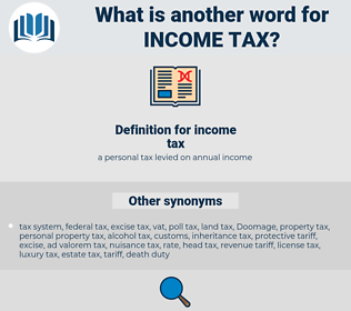 income tax, synonym income tax, another word for income tax, words like income tax, thesaurus income tax