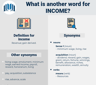 income, synonym income, another word for income, words like income, thesaurus income
