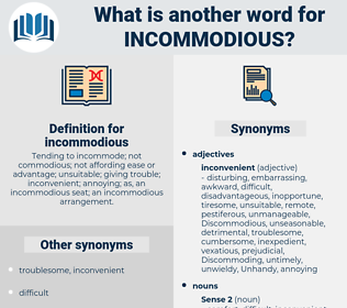 incommodious, synonym incommodious, another word for incommodious, words like incommodious, thesaurus incommodious