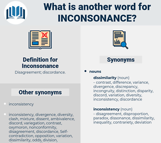 Inconsonance, synonym Inconsonance, another word for Inconsonance, words like Inconsonance, thesaurus Inconsonance