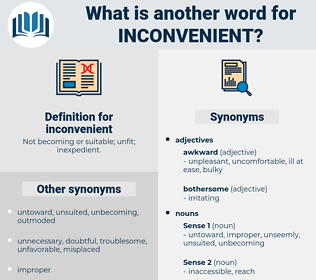 inconvenient, synonym inconvenient, another word for inconvenient, words like inconvenient, thesaurus inconvenient