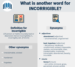 incorrigible, synonym incorrigible, another word for incorrigible, words like incorrigible, thesaurus incorrigible