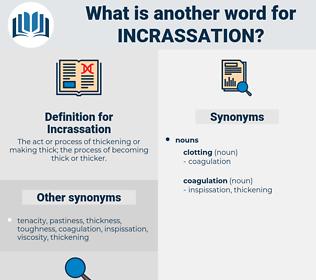 Incrassation, synonym Incrassation, another word for Incrassation, words like Incrassation, thesaurus Incrassation