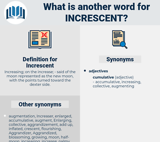 Increscent, synonym Increscent, another word for Increscent, words like Increscent, thesaurus Increscent