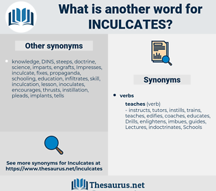 inculcates, synonym inculcates, another word for inculcates, words like inculcates, thesaurus inculcates