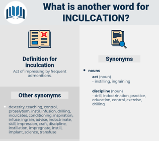 inculcation, synonym inculcation, another word for inculcation, words like inculcation, thesaurus inculcation