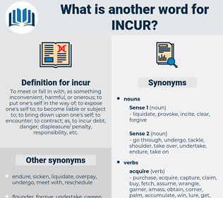 incur, synonym incur, another word for incur, words like incur, thesaurus incur